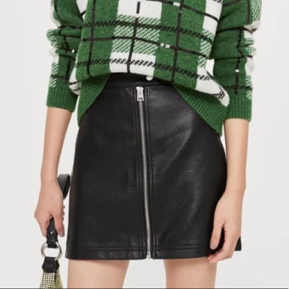 328996c184f6 Topshop Skirts | Penelope Faux Leather Miniskirt Nwt | Poshmark